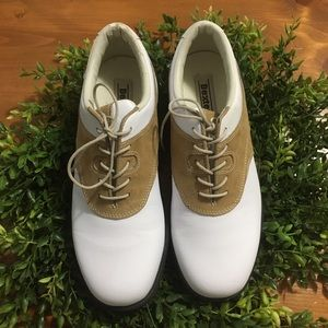 Dexter Women's White/Tan Golf Shoes